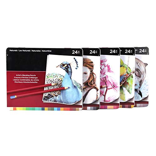 Akozon Pencils 120 Colors 5 Boxes Professional Colored Pencil Oil-Based Soft Core for Coloring Books