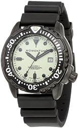 Momentum Men's 1M-DV86W1B Shadow II Ghost SE Black Hyper Natural Rubber Watch