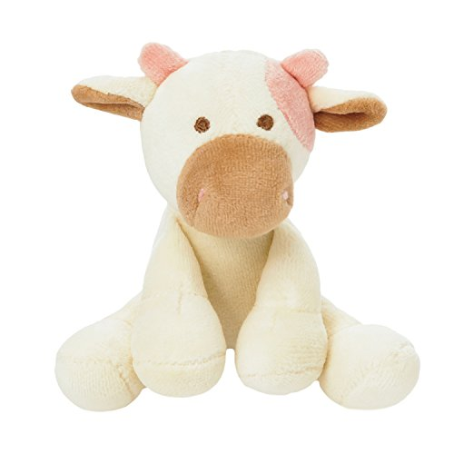 Simply Fido Millie 4-Inch Cow White/Brown with Squeaker Dog Toy