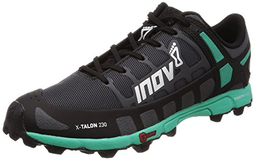 Inov-8 Womens X-Talon 230 - Lightweight OCR Trail Running Shoes - for Spartan, Obstacle Races and Mud Run - Grey/Teal 7.5 W US