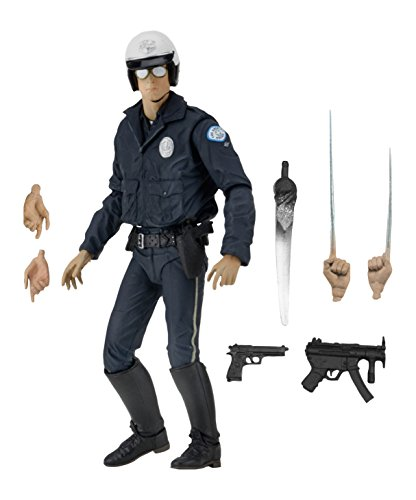 NECA Ultimate T-1000 Motorcycle Cop Terminator Scale Action Figure, (Terminator Arm)