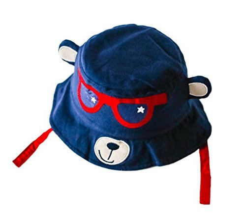 Toyobuy Children Cotton Spectacled Bear Hat Sun Protection Cap Size 54 by Toyobuy