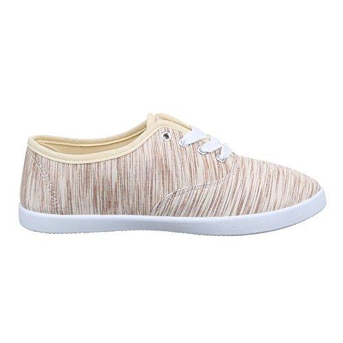beige de Mujer Ital Beige zapatos tiempo Design libre wqWOgP0