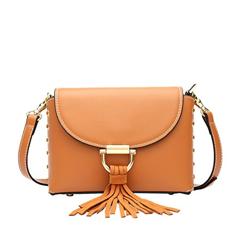 Shoulder Soft Women Leather Dissa Bag Brown Multiple Handbags Q0982 Pockets ZOw7xxqEYU