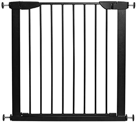 Huo Baby Gate Black Child Safety Gate Stairway Fence Pet Dog Isolation Gate for Bedroom Kitchen (Size : 82-89cm)