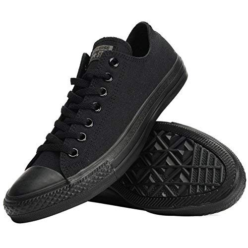 Converse Unisex Chuck Taylor All Star Low Top Black Monochrome Sneakers - 9 D(M) US by Converse (Image #12)