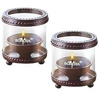 Borosil Decorative Diya Lights (Set of 2)