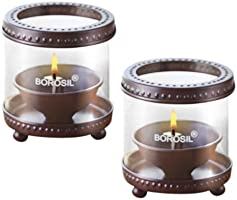 Borosil Decorative Diya Lights (Set of 2)