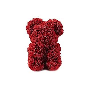 TwoCC ☆ Boda Cumpleaños Valentine S Day Red Rose Bear Teddy DIY ...