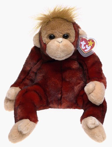 7970ff93e95 Image Unavailable. Image not available for. Color  Ty Beanie Buddy 12-Inch  Schweetheart the Orangutan ...