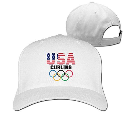 BEDOO Men's Curling Chess On Ice Baseball Hats White (Trailer Park Boys Hat)