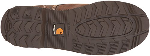 Carhartt Mens 6 Lug Bottom Moc Acciaio Punta Cmw6297 Boot Industriale Scuro Di Bisonte Concia Dolio