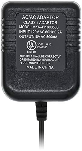 Aobelieve Plug-In Adapter, Power Supply, 18V AC Transformer for Ring Video Doorbell, Ring Video Doorbell 2, and Nest Hello Video Doorbell