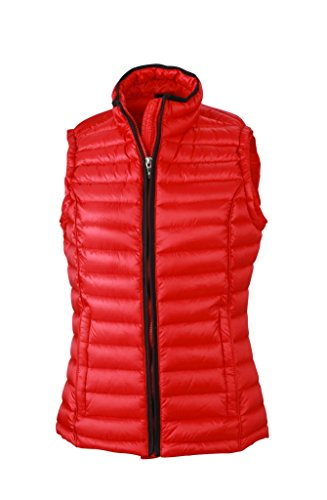 Ladies' 2Store24 Vest Casual black vest down Quilted with Down up stand collar Red 6wBwqpdf