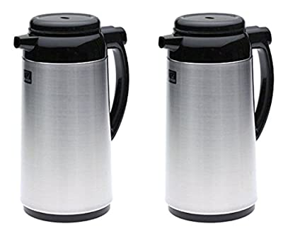 Zojirushi Premium Thermal 1-Liter Carafe, Brushed Stainless Steel - 2 Pack