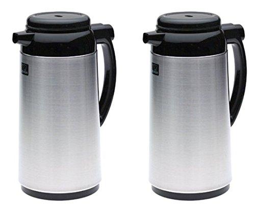 Zojirushi Premium Thermal 1-Liter Carafe, Brushed Stainless Steel - 2 Pack