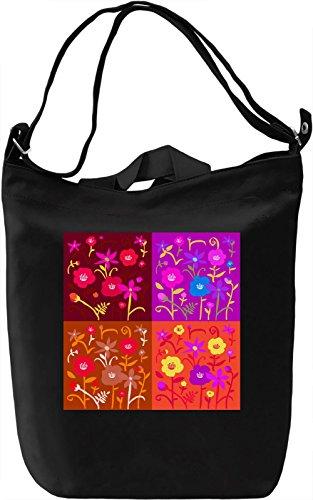 Pop Art Flowers Borsa Giornaliera Canvas Canvas Day Bag| 100% Premium Cotton Canvas| DTG Printing|