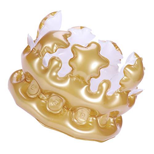 BESTOYARD 2Pcsインフレータブルクラウンノベルティインフレータブルバタフライおもちゃパーティーの恩恵の装飾用品キッズギフト(ゴールデン)