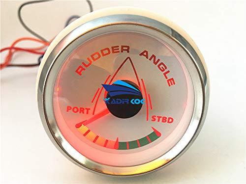 Kadir Koc 1pc 52mm Pointer Rudder Angle Gauges White Waterproof Rudder Angle Meters 9-32v for Boat Yacht Vessel by Kadir Koc (Image #2)
