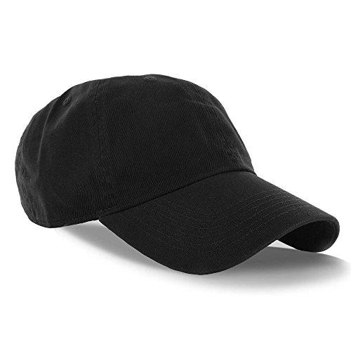 Black_(US Seller)Curved Bill Plain Baseball Cap Visor Hat Adjustable