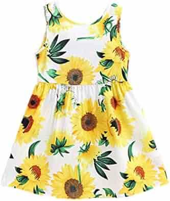 Waymine Baby Dress Kids Girls Sleeveless Sequin Bowknot Wedding Princess Clothes