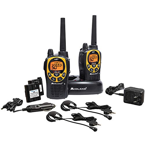 Midland - GXT1030VP4, 50 Channel GMRS Two-Way Radio - Up to 36 Mile Range Walkie Talkie, 142 Privacy Codes, Waterproof, NOAA Weather Scan + Alert (Pair Pack) (Black/Yellow)