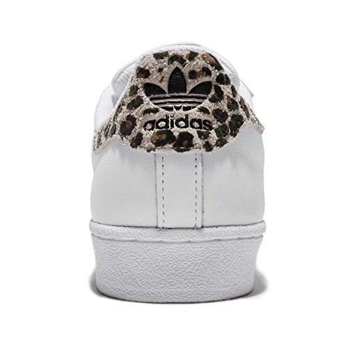 De Vrouwen Van Adidas Superster W Hk, Ftwwht / Clabro / Cardbo Ftwwht / Clabro / Cardbo
