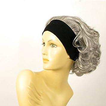 perruque bandeau femme courte bouclée grise