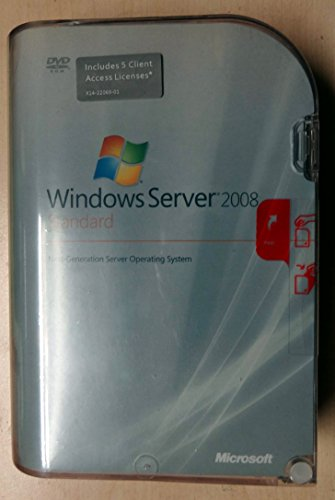 Microsoft Windows Server 2008 Standard w / SP2 – Licentie en media – 5 CAL's, 1 server (1-4 CPU) – OEM – DVD – 32/64-bit…