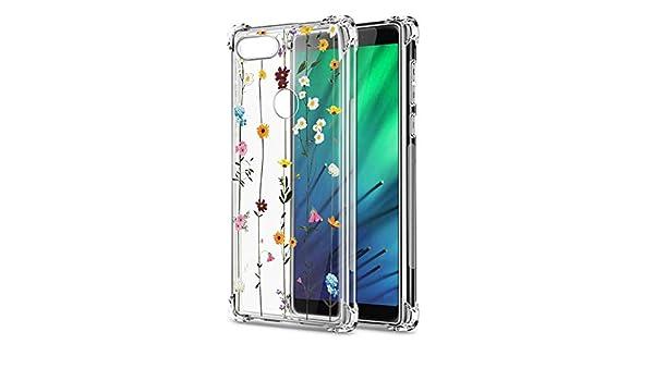 Oihxse Cristal Compatible con Samsung Galaxy J730/J7 Pro Funda Transparente TPU Silicona Estuche Airbag Esquinas Anti-Choque Anti Rasguños Diseño Rosa Flower Caso (Flores A3): Amazon.es: Electrónica