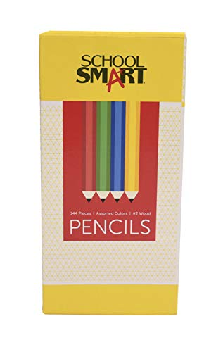 School Smart No. 2 Pencil with Latex-Free Eraser, Assorted Colors, Pack of 144]()
