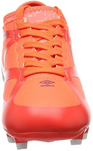 Umbro Unisex-Kinder Velocita III Premier HG-Jnr Fußballschuhe Mehrfarbig (Fiery Coral / Winter Bloom / White)