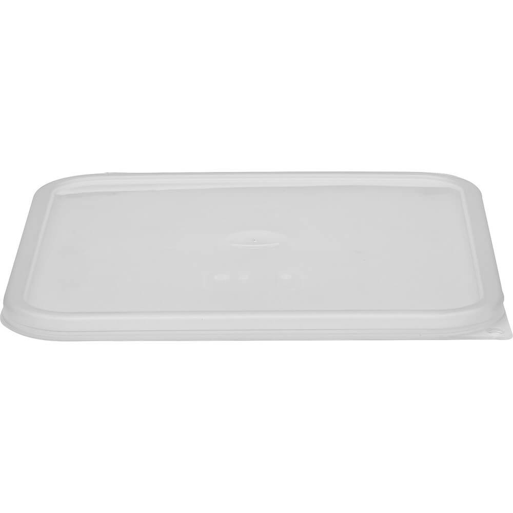 Cambro 12, 18 and 22 qt. Large Spill Resistant Lid for Polycarbonate Containers, 6PK Translucent SFC12SCPP-190