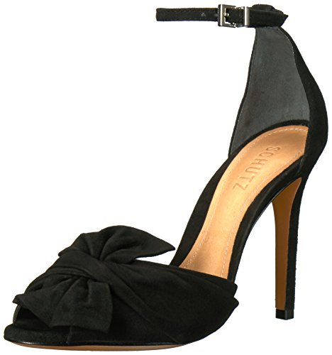 Schutz Women's Natally Heeled Sandal Black zUjpO0e