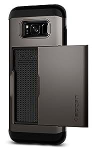 Spigen Slim Armor CS Galaxy S8 Case with Slim Dual Layer Wallet Design and Card Slot Holder for Samsung Galaxy S8 (2017) - Gunmetal