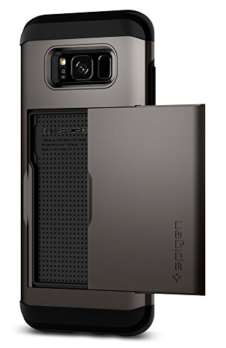 Spigen Slim Armor CS Galaxy S8 Case with Slim Dual Layer Wallet Design and Card Slot Holder for Samsung Galaxy S8 (2017) - Gunmetal