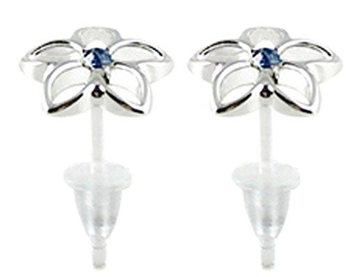 Hypoallergenic plastic post flower stud earrings - you get 3 pair each color