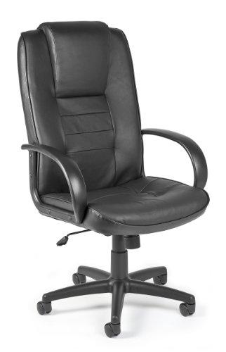 OFM 500-L Promo Hi-Back Leather Chair, Black