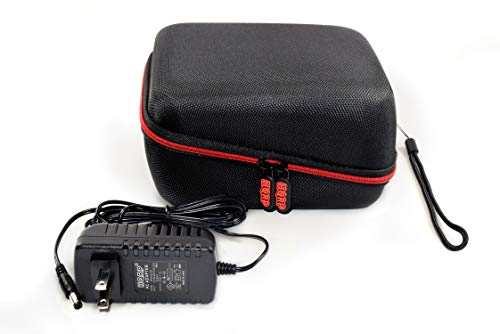 HQRP Hard Case and AC Adapter for iProven BPM-2244BT Automatic Upper Arm Blood Pressure Monitor
