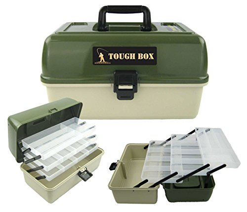 Roddarch copy; 3 Tray Cantilever Fishing Tackle Tough Box