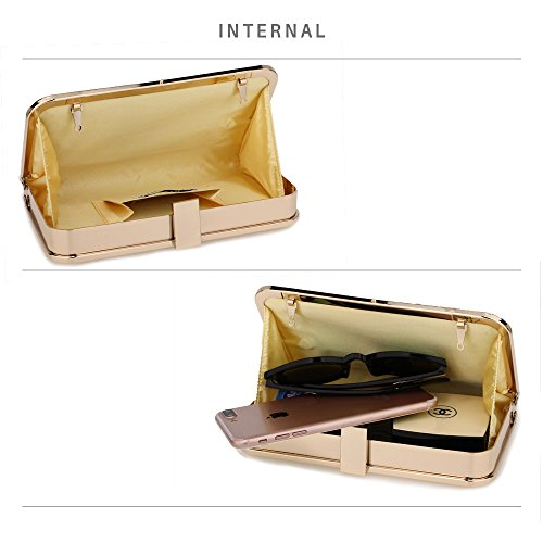 Evening Clutch Wedding Racing Women's For Bag Bags Diamante Party Gold I0w5RxAOq