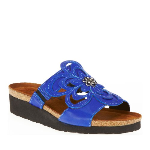 Wedge Naot Leather Royal Sandal Women's Sandy Blue 4060Ex8