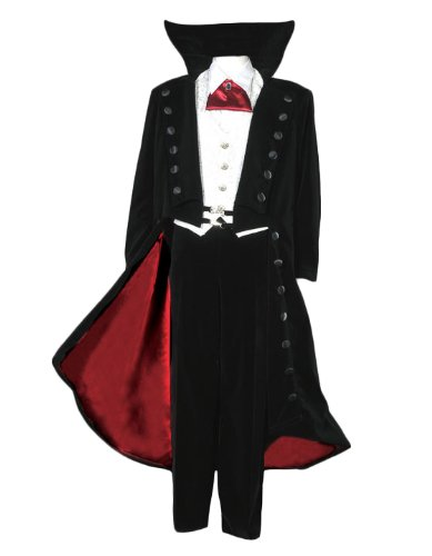 [Men's Deluxe Count Dracula Vampire Theatrical Quality Costume, Large] (Count Gothic Costumes)