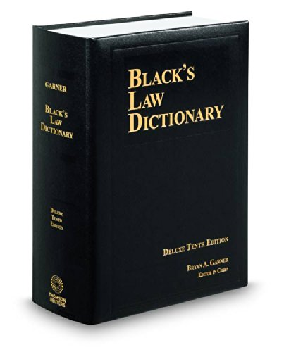BLACK'S LAW DICTIONARY; DELUXE 1...