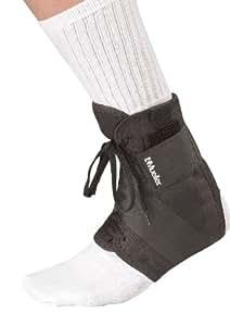 Mueller Soft Ankle Brace with Straps, Black, Small, Women's 8-10, Men's 7-9