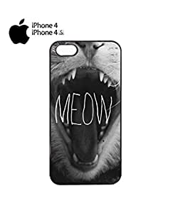 Meow Roar Cat Kitten WTF Mobile Cell Phone Case Cover iPhone 5c White