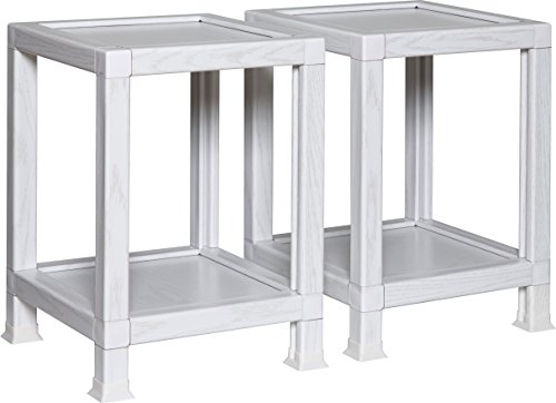 OneSpace 100% Recycled Paper End Tables, White (Set of 2) by OneSpace