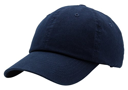 Blue Cap Classic - BRAND NEW 2016 Classic Plain Baseball Cap Unisex Cotton Hat For Men & Women Adjustable & Unstructured For Max Comfort Low Profile Polo Style  Unique & Timeless Clothing Accessories By Top Level, Navy, One Size