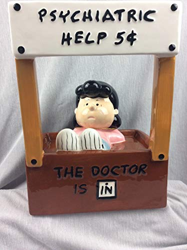 Peanuts So Rare! Westland Dr. Lucy Huge Ceramic Bank Mood Booth Psychiatric Help]()