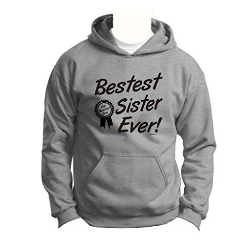 Bestest World's Best Sister Ever Gift Youth Hoodie Sweatshirt Large Sport Grey